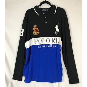 Polo Ralph Lauren L/S embroiderd rugby polo